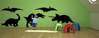 instant kids chalkboard dinosaurs