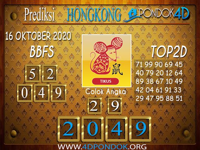 Prediksi Togel HONGKONG PONDOK4D 16 OKTOBER 2020