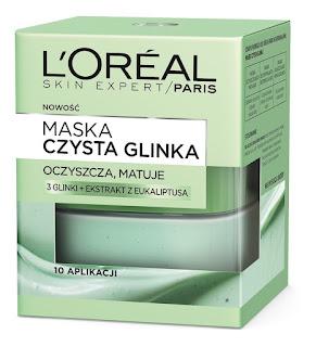 Loreal maska czysta glinka oczyszczająco matująca