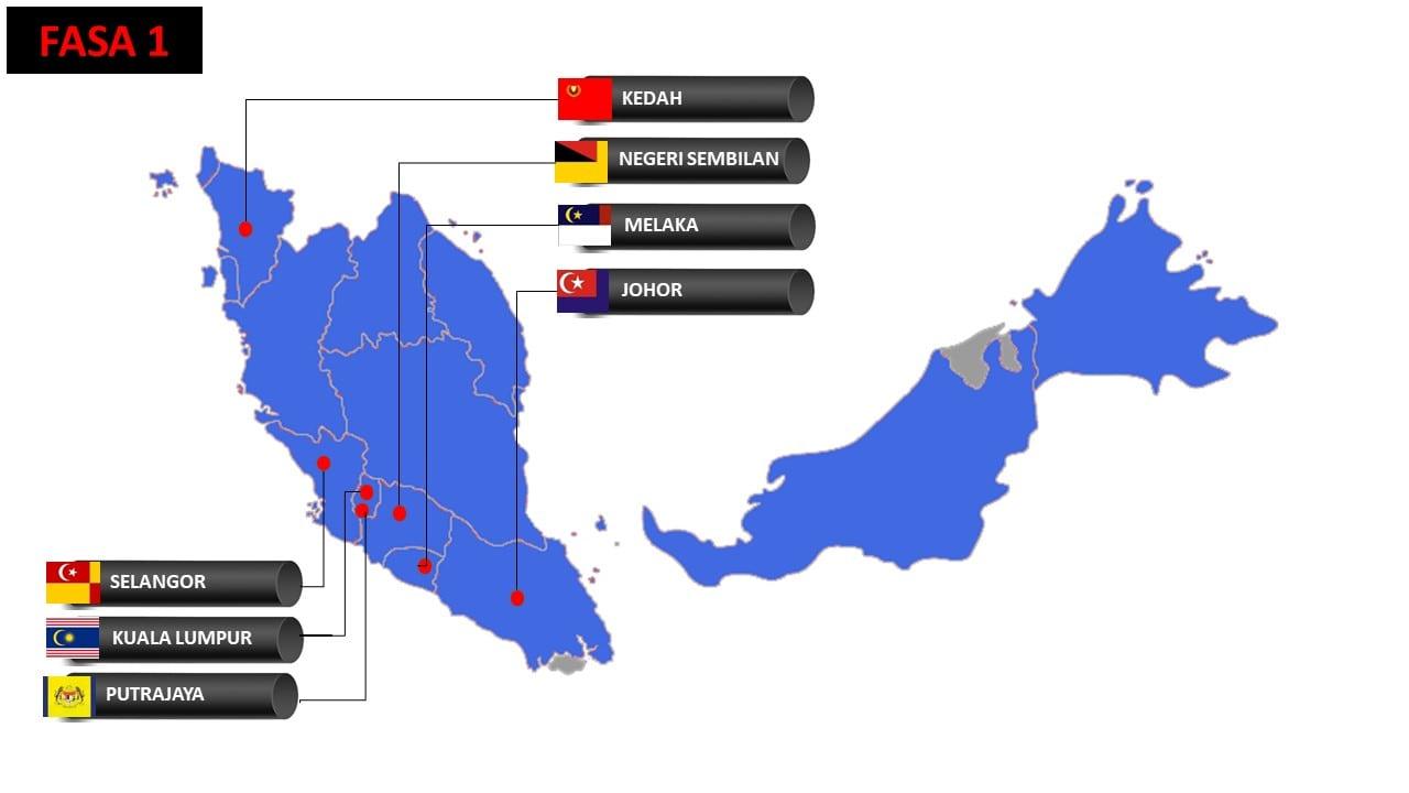 negeri fasa 1 terkini ppn 2021 malaysia