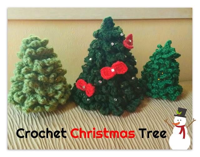 かぎ針で編んだクリスマスツリー