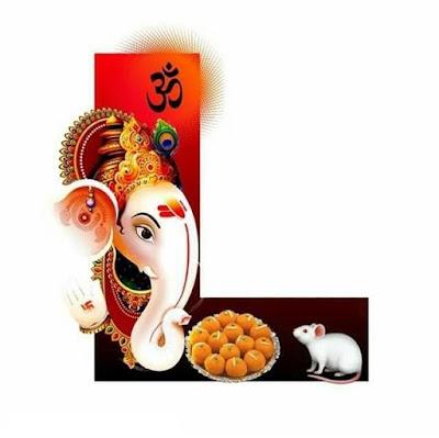 Ganesh Chaturthi WhatsApp DP Alphabet Image 2021