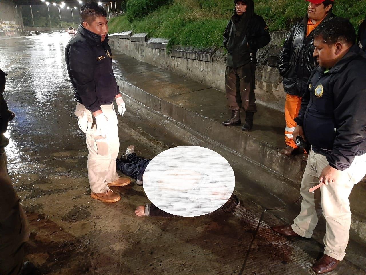 El cuerpo sin vida fue encontrado muy cerca de la terminal de buses de La Paz / FELCC