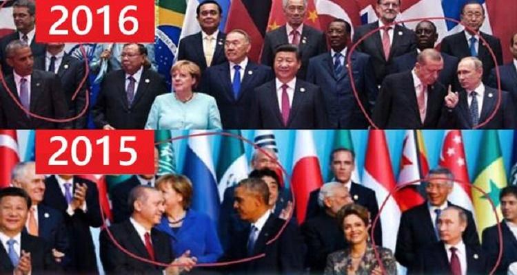 العربية تكشف الفرق بين أوباما و بوتين في تركيا وأوباما و بوتين بالصين