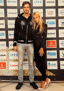 Daniil Medvedev With His Wife