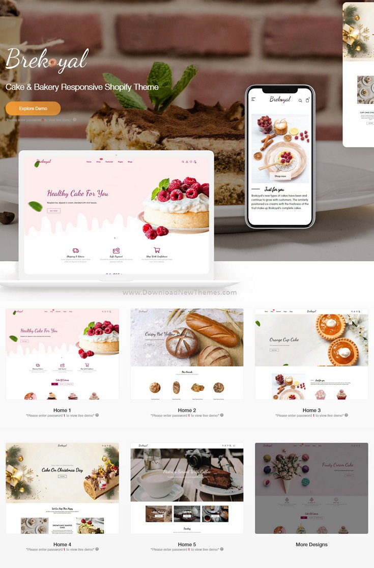 Cake and Bakery Responsive Shopify Theme