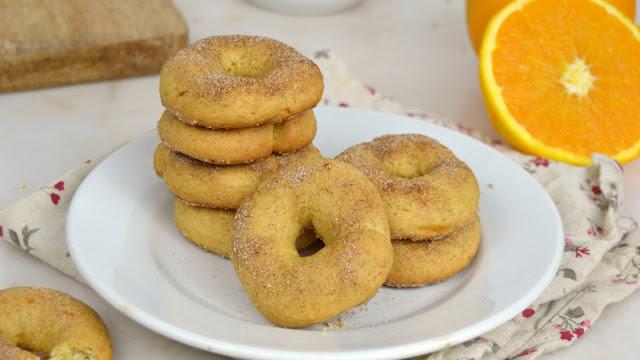 Rosquillas de naranja al horno fáciles y crujientes