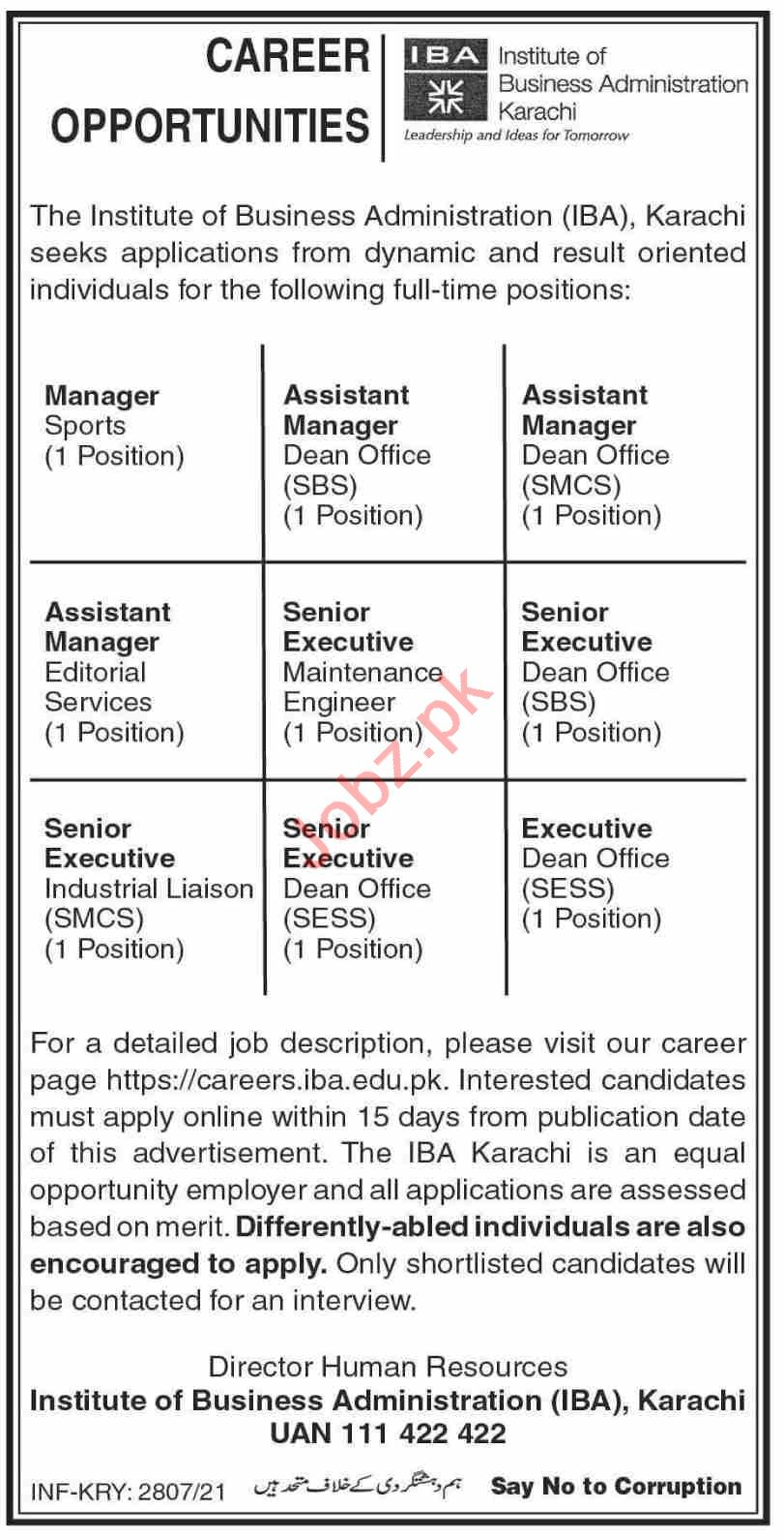 Jobs in Institute of Business Administration IBA