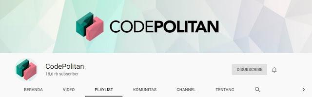 Channel Youtube untuk Belajar Bahasa Pemrograman, codepolitan,