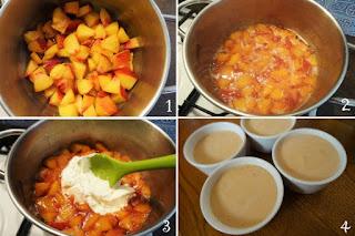 foto preparazione Ricetta crema di pesche e yogurt greco per bambini