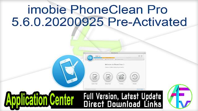 imobie PhoneClean Pro 5.6.0.20200925 Pre-Activated