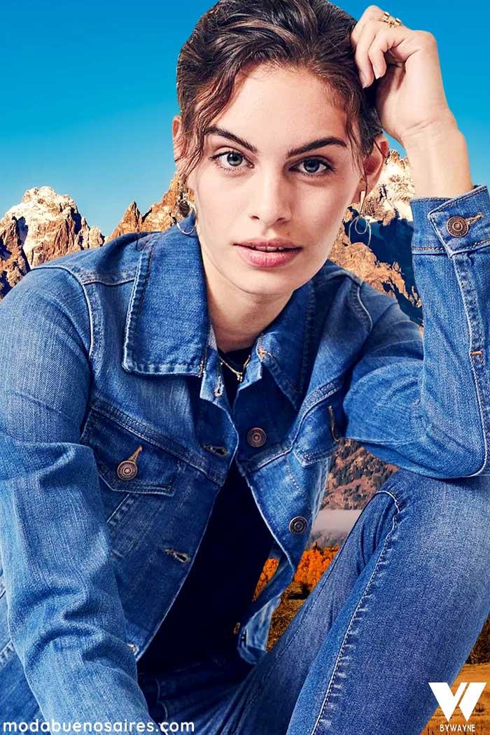 Campera denim invierno 2021 moda mujer