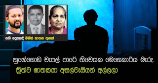 Triple murderer who  killed Nugegoda Chapel Lane domestic aide ... apprehended by neighbours!