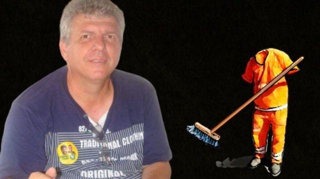 Vítima de cusparada tem vida exposta; é gari mais bem pago do Brasil