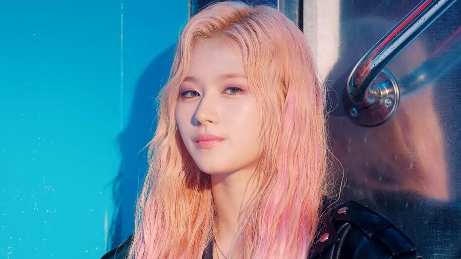Twice Feel Special Sana Peach Pink Hair 4k Wallpaper 5894