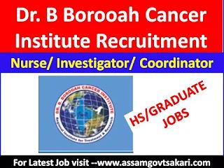 Dr B Borooah Cancer Institute,Guwahati Recruitment 2019