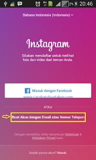 membuat akun instagram