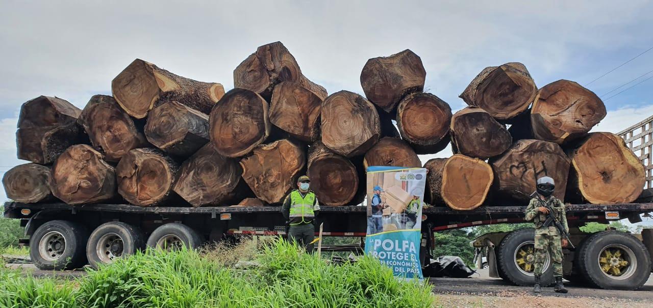 https://www.notasrosas.com/, Ejército y Dian incautan madera avaluada en más de 200 millones de pesos, en vías aledañas a Bosconia - Cesar