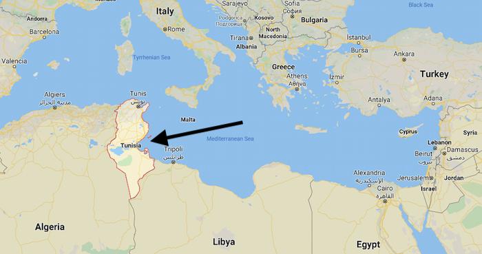 Tunus neresi harita