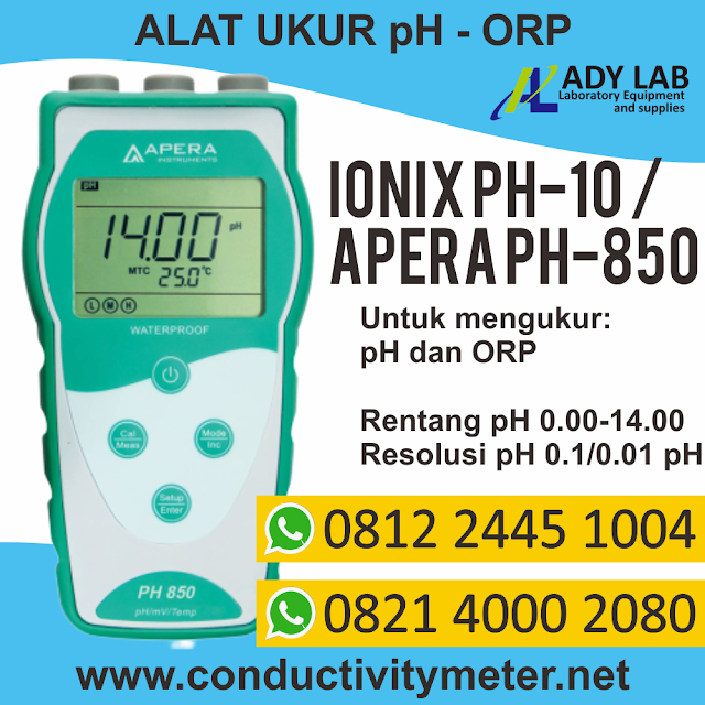 ph orp meter hanna hach lutron apera ionix by ady lab