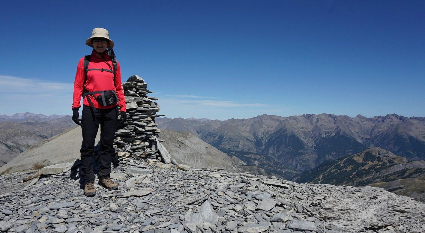 At the summit of Cime de Pal 2818 m