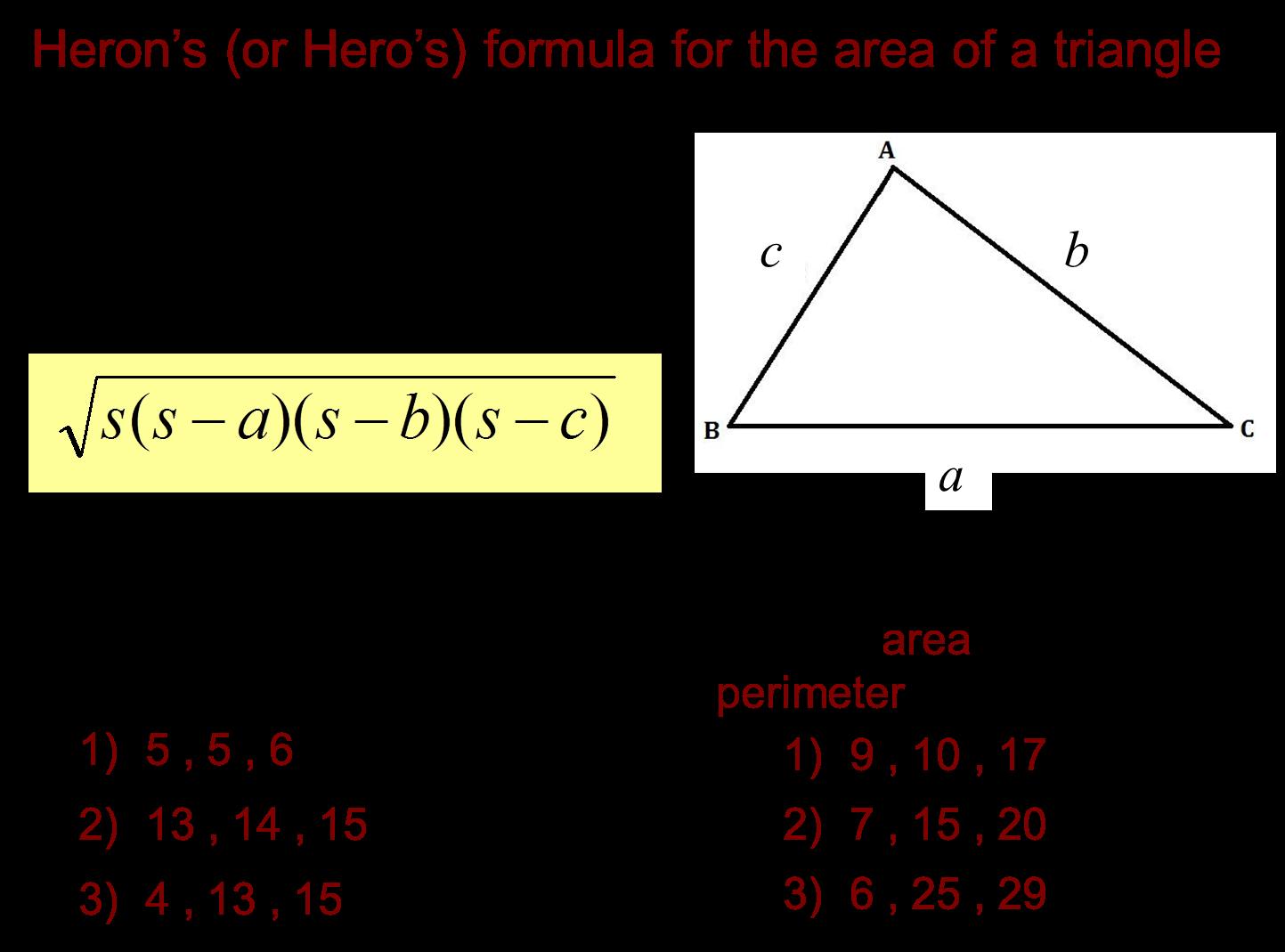 Median Don Steward Mathematics Teaching Area Of Any Triangle