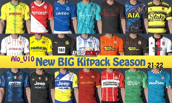 PES 2017 New Season Kits 2021-2022 Big Pack v10