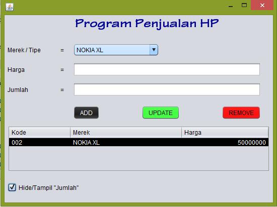 hide - Tutorial Java - Membuat Menu Popup dan Hide/Show Kolom Pada Jtable