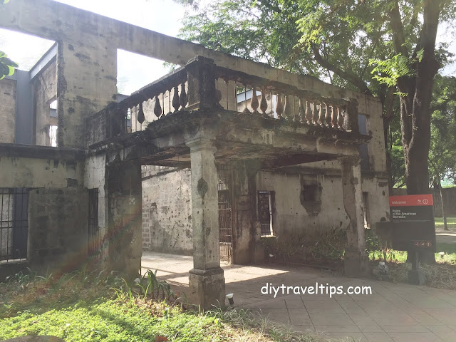 Photo showing Ruins of the American Barracks in Intramuros