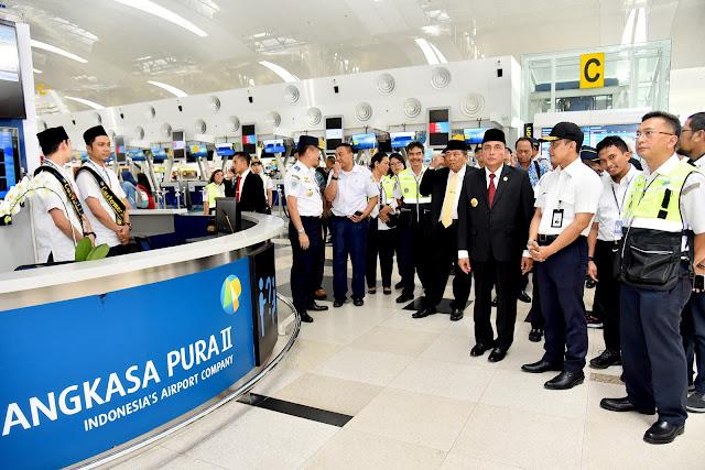 Gubernur Tinjau Kesiapan Layanan Mudik Lebaran Idulfitri 1440 H di Bandara Kualanamu