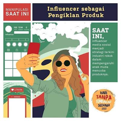 pengalaman influencer sebagai pengiklan produk rokok