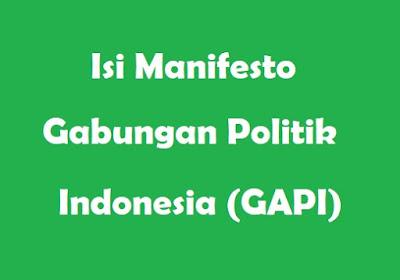 5+ Isi Manifesto Gabungan Politik Indonesia (GAPI)