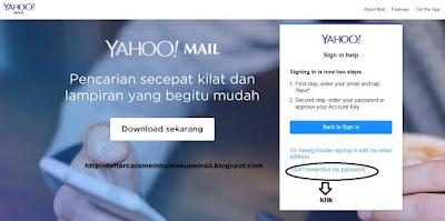 CARA MUDAH RESET PASSWORD YAHOO MAIL INDONESIA TERBARU
