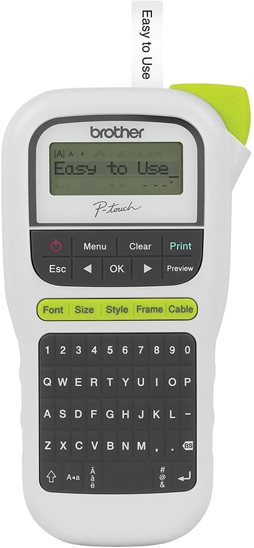 Review Brother PTH110 P-touch Easy Portable Label Maker