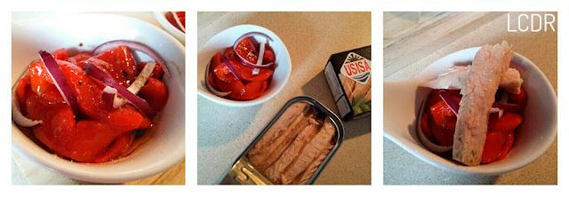 Receta de ensalada de pimientos asados con melva 02