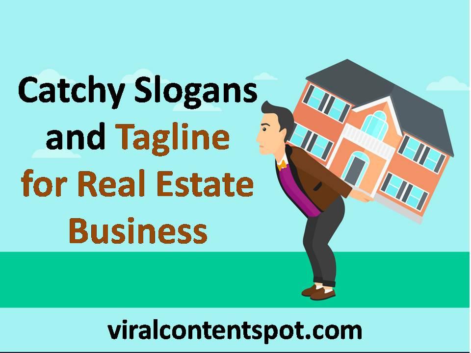 Creative Slogans and tagline idea for real estate