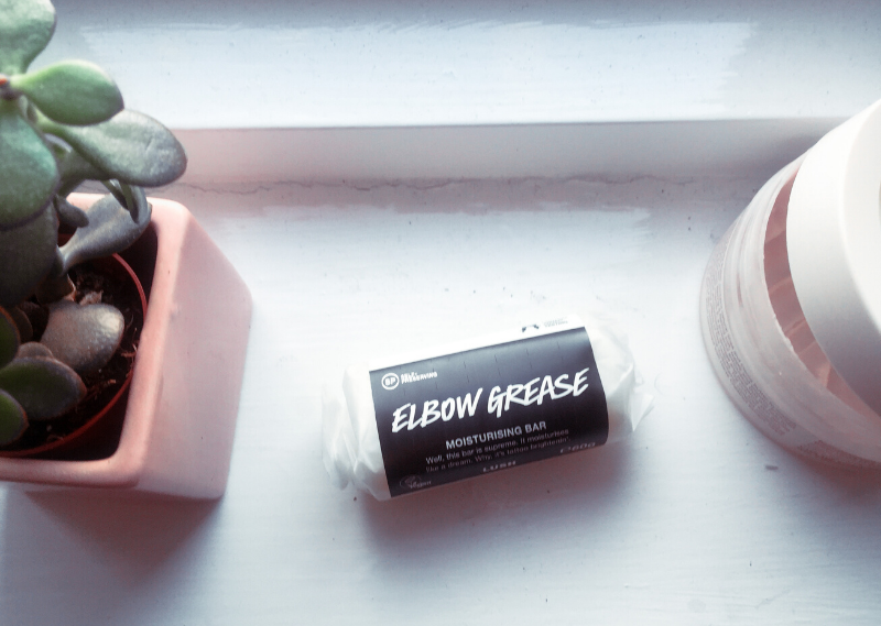 'Elbow Grease' from Lush in a blog post about easy sustainable swaps to make for a more waste-free life.