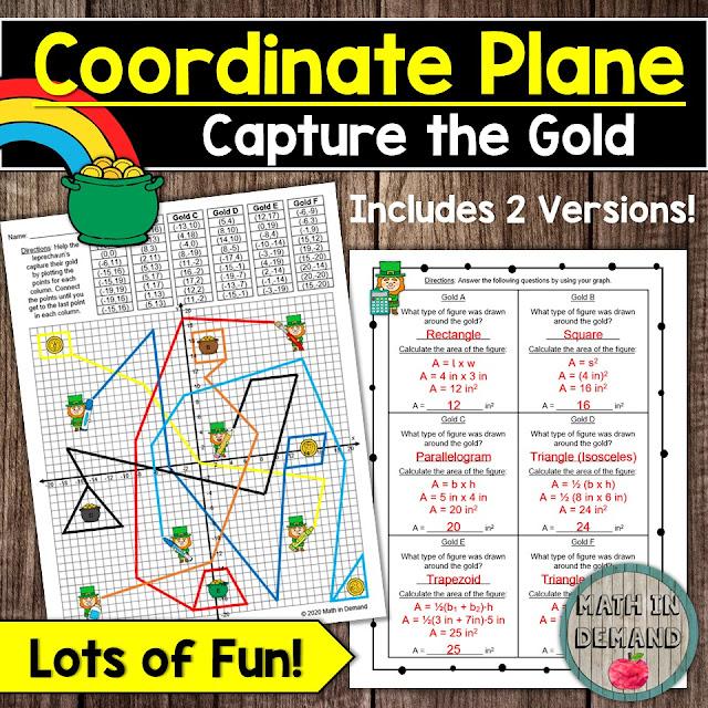 Coordinate Plane (Capture the Gold) Activity