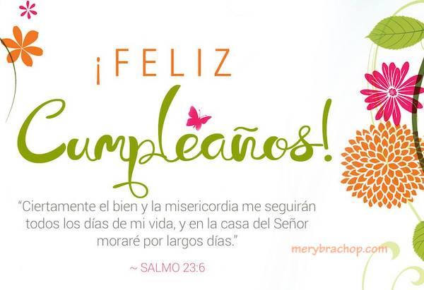 frases versiculos cumpleaños citas biblicas salmo 23  de la biblia