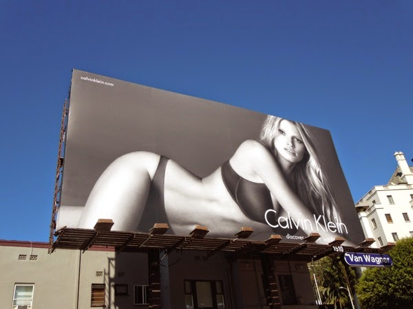 Lara Stone Calvin Klein Perfect Fit underwear billboard