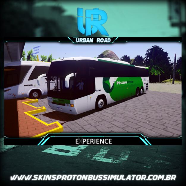 Skin Proton Bus SImulator Road - Marcopolo Paradiso GV 1150 Scania K113 6X2 Viação Pássaro Verde