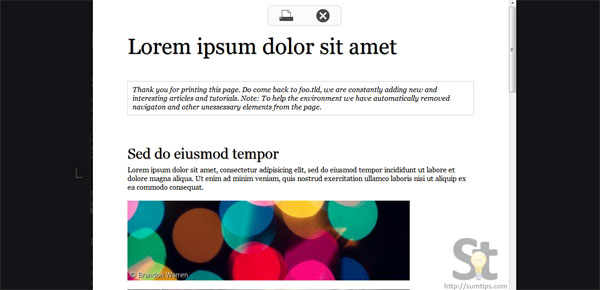 jQuery Print Preview