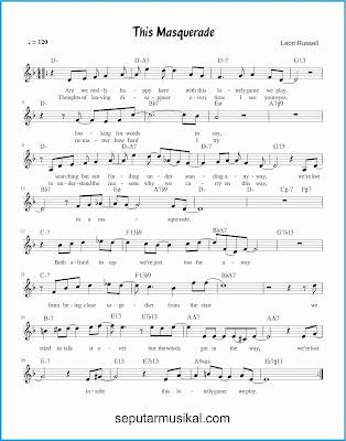 this masquerade lagu jazz standar