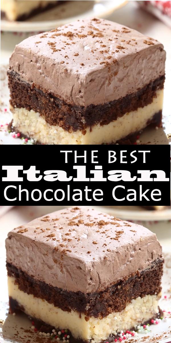 Italian Chocolate Cake #Italian #Chocolate #Cake #ItalianChocolateCake