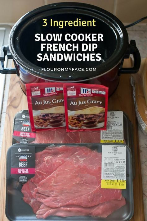 Crock Pot French Dip Sandwiches Need an easy recipe for the weekend? This Crock Pot French Dip Sandwiches recipe is one of the easiest crock pot sandwich recipes you will ever make. Or need something