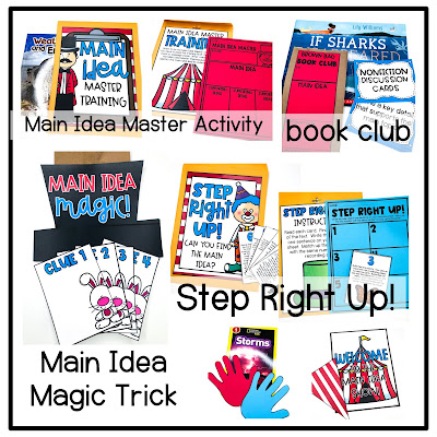 Main idea and supporting details anchor chart, activities, and crafts.