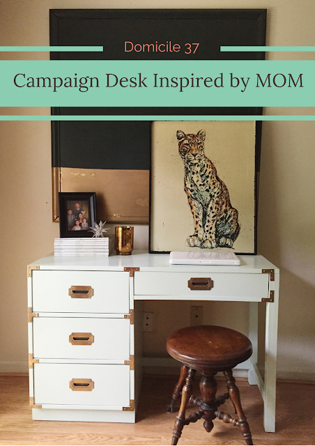 Fab Furniture Flippin' Contest, Campaign desk, Repurposed, before and after, diy