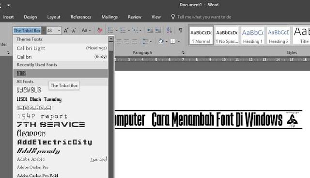 Cara Menambah Font Di Windows 8