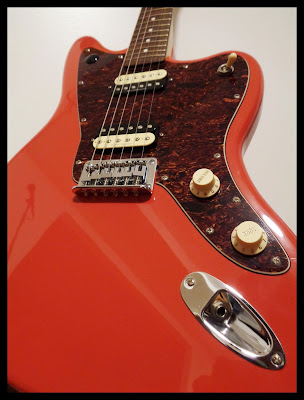 Custom Squire Fiesta Red Jaguar