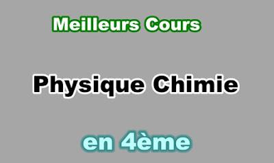 Cours Physique Chimie 4eme en PDF